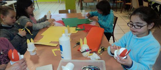 Mouguerre Jeunesse : Activité Pâques Périscolaire Bourg  Des lapins fait-mains