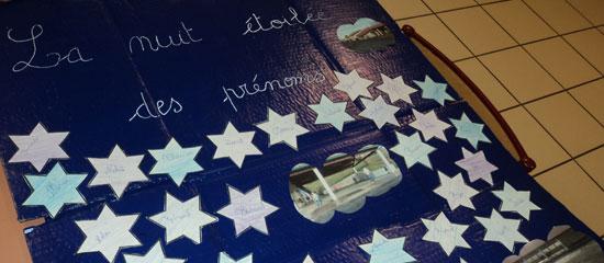 Mouguerre Jeunesse : Panneau: la nuit étoilée des prénoms