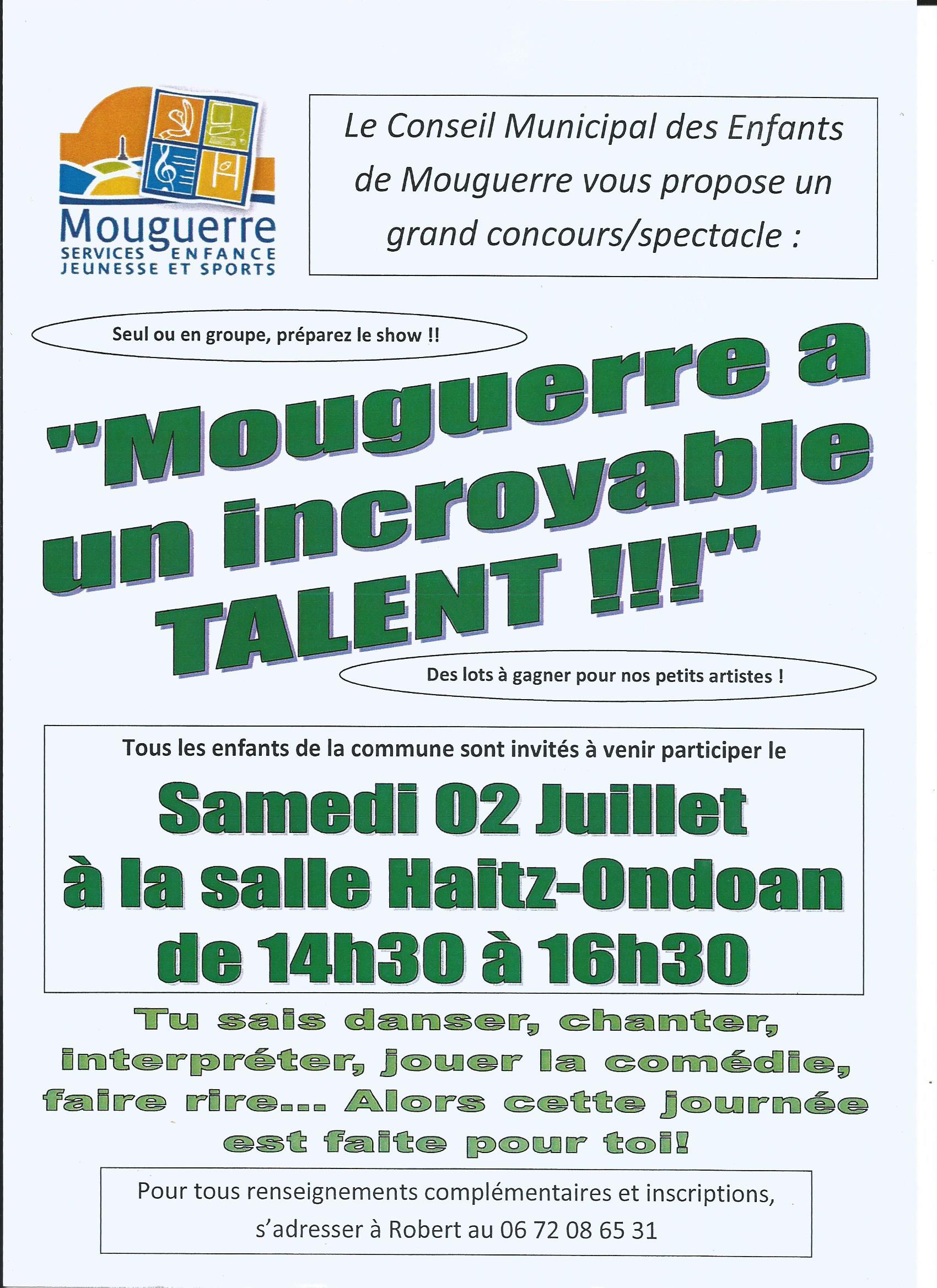 Mouguerre Jeunesse : Spectacle: «Mouguerre a un incroyable talent»