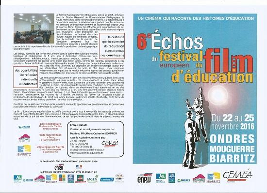 Mouguerre Jeunesse : Le Festival européen du film d'éducation