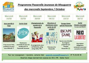 Programme de septembre et octobre 2021